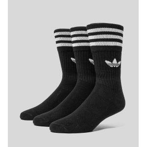 Adidas Chaussettes -originals Solid Crew Sock - black / white - EU 39-42