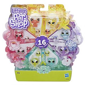 Hasbro Pack de 16 Petshop collection jardin enchanté