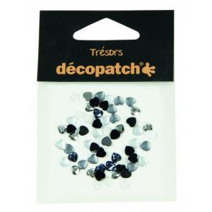 decopatch Set 60 cabochons curs 5mm - noir/blanc