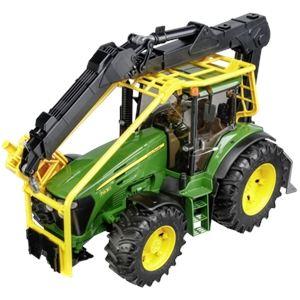 Bruder Toys 3053 - Tracteur forestier John Deere 7930 avec chargeur - Echelle 1:16