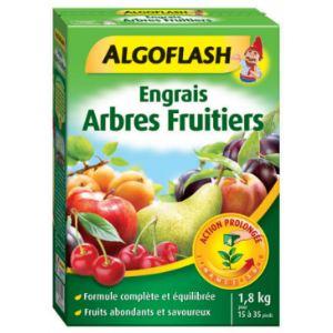 Algoflash Engrais arbres fruitiers action prolongée 1,8 kg