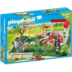 Playmobil 6147 Country - Super Set Enclos avec box à chevaux