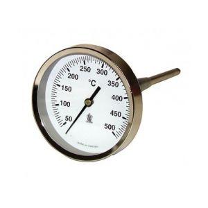 Thermomètre rond de fumée - 50 à 500°C diamètre 80mm sonde 15