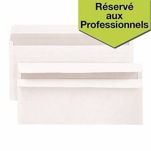 Budget Enveloppe blanche DL 110x220 80g auto adhesive - Boite de 500