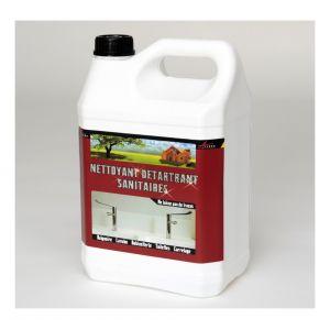 Arcane industries NETTOYANT DETARTRANT SANITAIRES - Nettoyant inox wc baignoire salle de bain sdb enlever calcaire sanitaire carrelage cabine douc | Transparente - Liquide - 5L