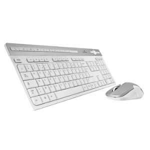 Bluestork Pack Clavier/Souris Wireless Pack Easy II-N Blanc/Silver