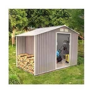M&S Abri de jardin + abri bois en métal 6,5 m2