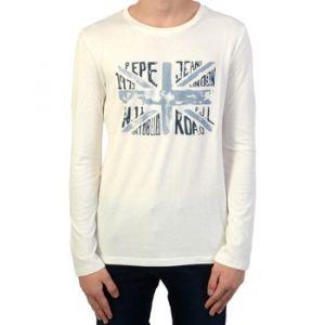 Pepe Jeans T-shirt enfant Tee Shirt manches longues Enfant Jaden Jr Beige - Taille 10 ans