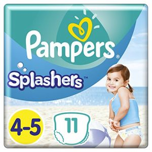 Pampers Splashers taille 4-5 (9-15 kg) - 11 couches-culottes de bain jetables