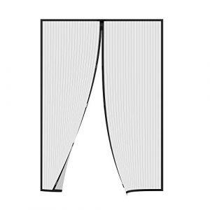 Jarolift Moustiquaire  Rideau magnétique pour portes 110 x 220cm  noire, individuellement découpable