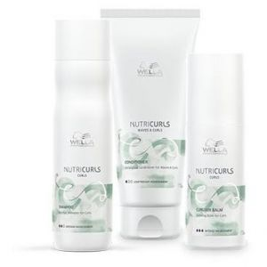 Wella Pack Nutricurls Cheveux Bouclés - Shampooing + Conditionneur + Baume