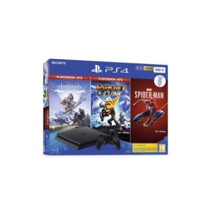 Sony Console PS4 500go Noire+Marvel's Spider+HZN+R&Z
