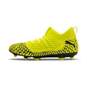 Puma Chaussure de foot FUTURE 4.3 NETFIT FG/AG pour Homme, Jaune/Noir, Taille 45