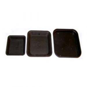 Nuova Pasquini & Bini Coupelle Carree noir 18,9 x 18,9 cm x 10pcs pour pot carré