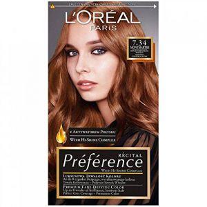 L'Oréal Coloration préférence récital blond doré cuivré 7.34