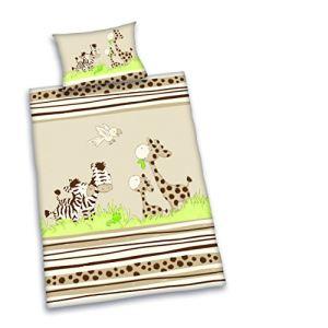 Herding Parure de lit Zebra en lin (100 x 135 cm - 40 x 60 cm)