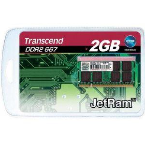 Transcend JM667QSU-2G - Barrette mémoire JetRAM 2 Go DDR2 667 MHz CL5 200 broches