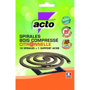 Acto Spirale insecticide volants et support- citronnelle - lot de 10 - Insecticide - insecte volant