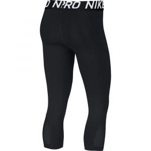 Nike W NP Pro Capri Pants Femme, Noir (Black/White 011), FR : M (Taille Fabricant : M)