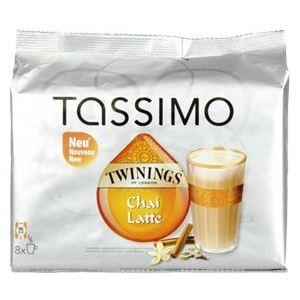 Tassimo 8 dosettes T-Discs Twinings Chai Latte