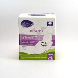 Unyque 10 serviettes hygiéniques extrafines Super