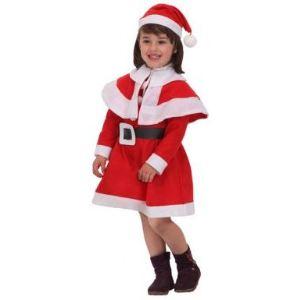 Déguisement Mére Noël enfant (3 à 12 ans)