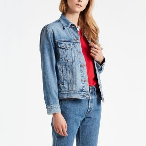 Levi's X Mickey Mouse Ex-Boyfriend Trucker Jacket soft as butter mid