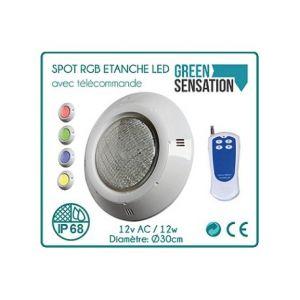 Desineo Spot étanche RGB + Blanc avec télécommande pour piscine -