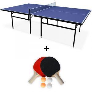 Alice's Garden Table de ping Pong Indoor Bleue Nagano- Table avec 2 Raquettes et 4 balles, pour Utilisation intérieure, Sport Tennis de Table