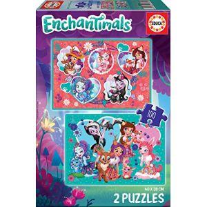 Educa ENCHANTIMALS -Puzzle 2x100