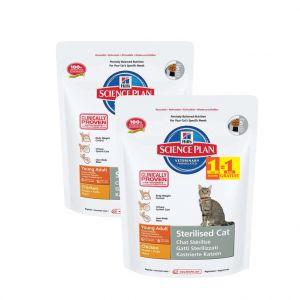 Hill's Feline Sterilised Cat Young Adult - Croquettes pour chat - 300 g