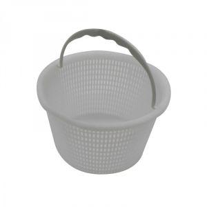 Linxor Panier Rond pour Skimmer de Piscine - Diam 20.3 cm - Blanc - Norme CE