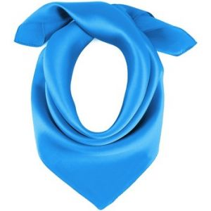 Allée du foulard Carré de soie Piccolo BLEU uni 72e20ec83fc