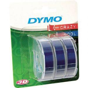 Dymo S0847740 - 3D Ruban de marquage, bleu, en blister de 3 pièces, 9mm x 3m