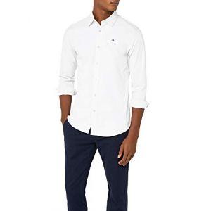 Tommy Jeans Chemises Tommy-hilfiger Original Stretch Slim Fit - Classic White - XL