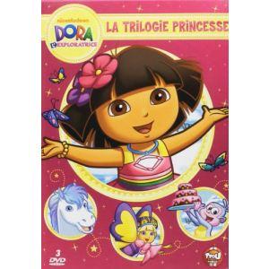 Coffret Dora l'exploratrice - La Trilogie Princesse : Dora sauve la princesse des neiges + Dora sauve le Royaume de Cristal + Joyeux anniversaire Dora !