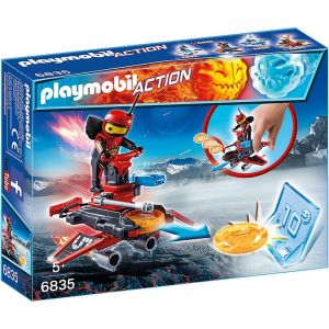 Playmobil 6835 Action - Androïde de feu avec lance-disques