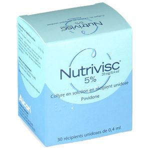 Alcon Nutrivisc 5% 20 mg/0,4 mL - 12 ml COLLYRE