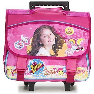 Cartable à roulettes Soy Luna Pink 38 cm CP/CE1 Rose