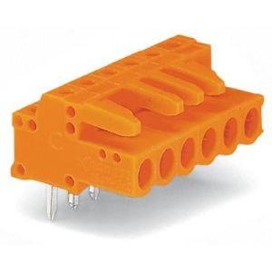 Wago 232-264 - Connecteur femelle coudé orange 4 pôles avec broches à souder sur circuit imprimé pas 5.08 mm emballage industriel de 10 pc(s)