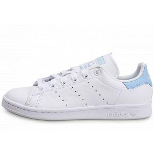 Adidas Stan Smith Blanc Bleu Ciel Femme 36 2/3 Baskets