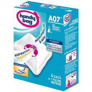 Handy Bag A07 - 4 sacs aspirateur en microfibres et 1 filtre sortie d'air