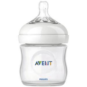 Philips Avent SCF690/17 - Biberon Natural en polypropylène 125 ml avec tétine débit nouveau-né