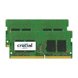 Crucial CT2K8G4SFD8213 - Barrette mémoire 16 Go Kit DDR4 2133 MT/s 8GBx2 SODIMM 260pin DR x8 unbuff