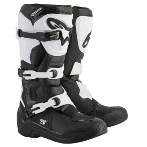Alpinestars Tech 3 Black White 2018 - Bottes cross