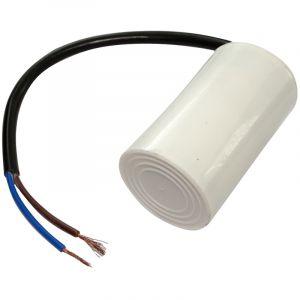 Aerzetix Condensateur permanent de travail pour moteur 8µF 450V précâblé Ø35x60mm ±5% 3000h C18685