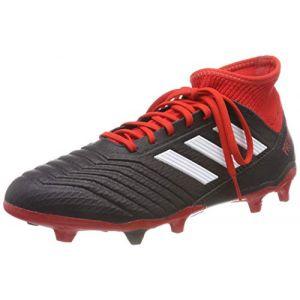 Adidas Chaussures de foot Crampons rugby moulés adulte - Predator 18.3 FG - Noir - Taille 45 1/3