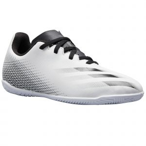 Adidas Football en salle junior X Ghosted.4 In - Ftwr White / Core Black / Silver Metalic - Taille EU 35