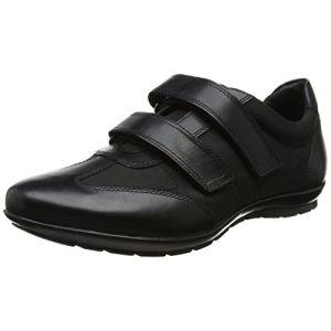 Geox Uomo Symbol D, Baskets Basses Homme, Noir (Black), 43 EU