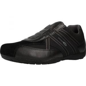 Geox Homme Slipon RAVEX, Monsieur Baskets,Chaussures Basse,Slip-on,Chaussures de Sport,flâneur,Pantoufles,perméable à l'air,Schwarz,43 EU / 9 UK